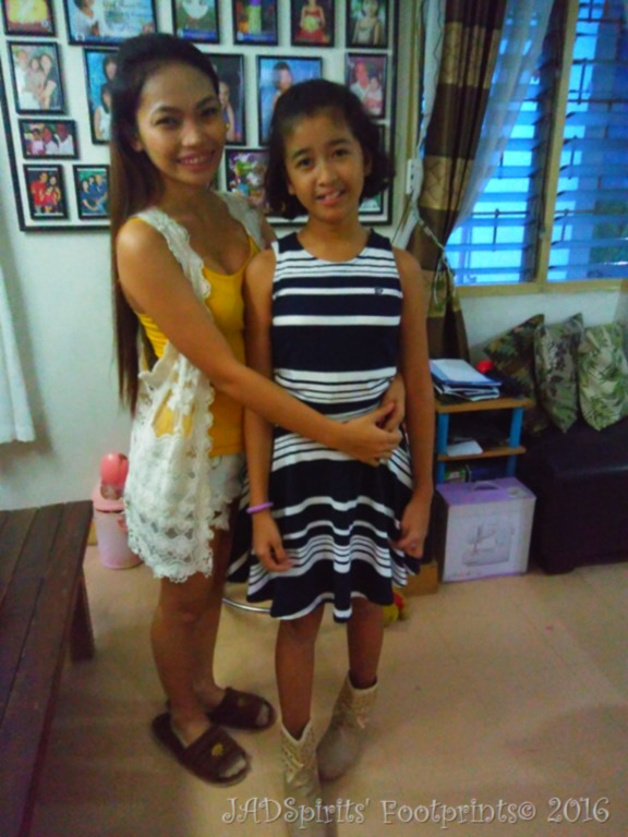 Daniz with Ate Cris, who took care of her when she was a baby