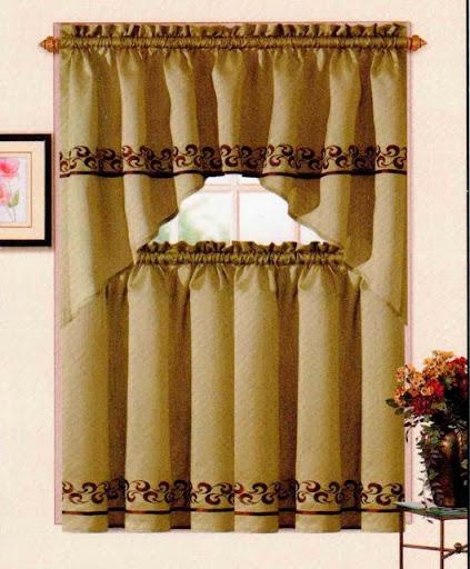 Sage Colored Curtains Kitchen: Bryn Kitchen Curtain Set Sage / Gold