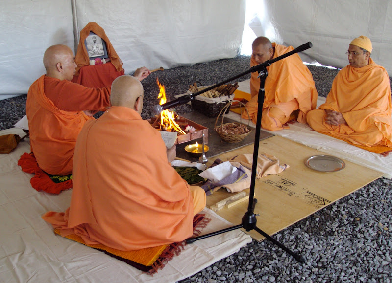 Day 2 Homa in tent