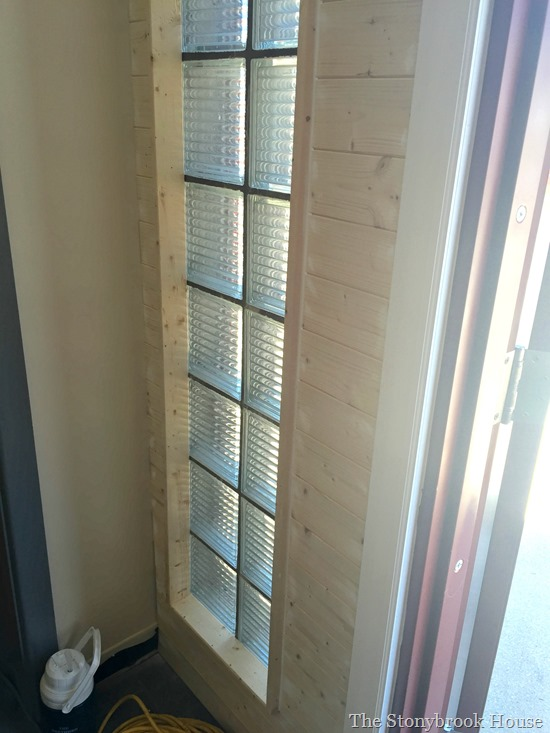 Plank wall window casing