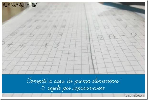 Compiti a casa in prima elementare: 5 regole per sopravvivere