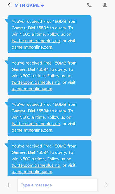 how to get MTN free gameplus data