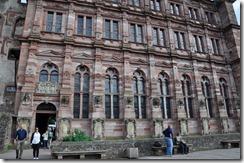 Heildelberg schloss facade donnant sur la grande terrasse , la Altan