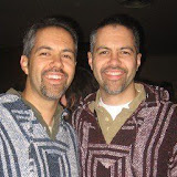 Mike and I--Mike borrowed the poncho from Kelly for the shot.