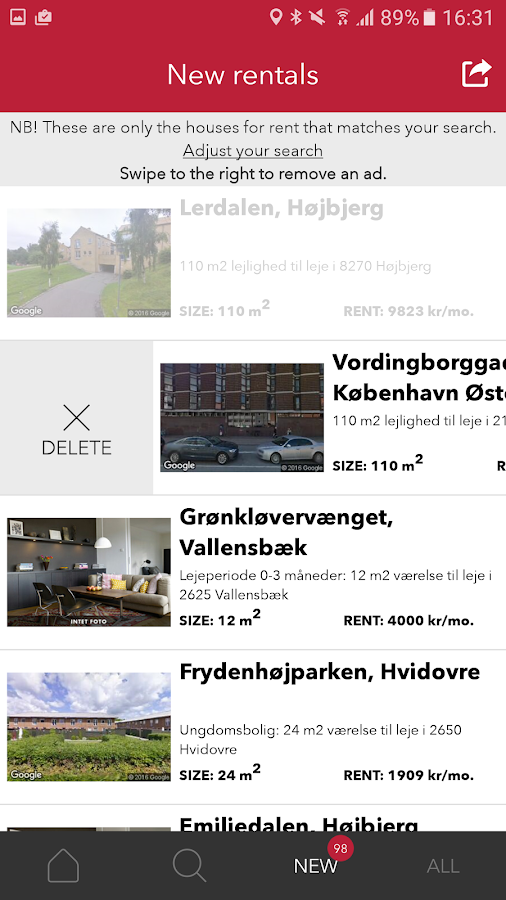 Houses for rent in Denmark- screenshot