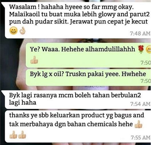 testimoni malaika oil_1