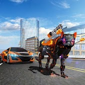 Wildcat Police Car Big Cats Transform Robot Games
