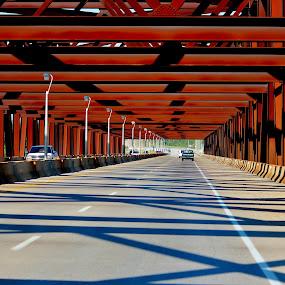 Bridged by Keri Butcher - Novices Only Landscapes ( highway, travel, bridge, roads, kentucky )