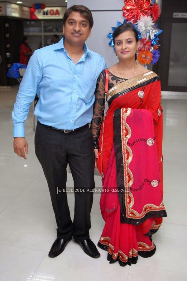 Vishal with Neha Barbate at his do at Nag road in Nagpur.