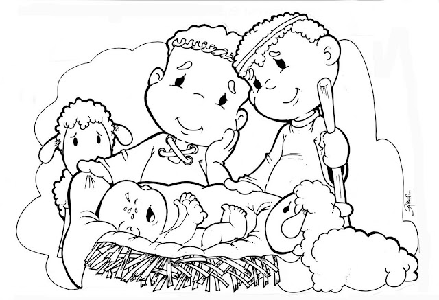 Desenhos Nascimento De Jesus
