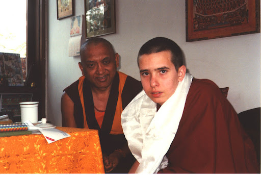 Lama Zopa Rinpoche and Osel
