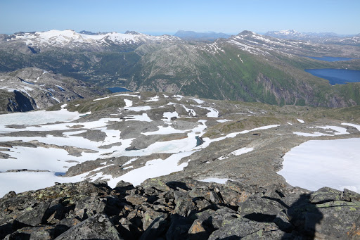 Pohľad z Middagstuva na Glomfjord