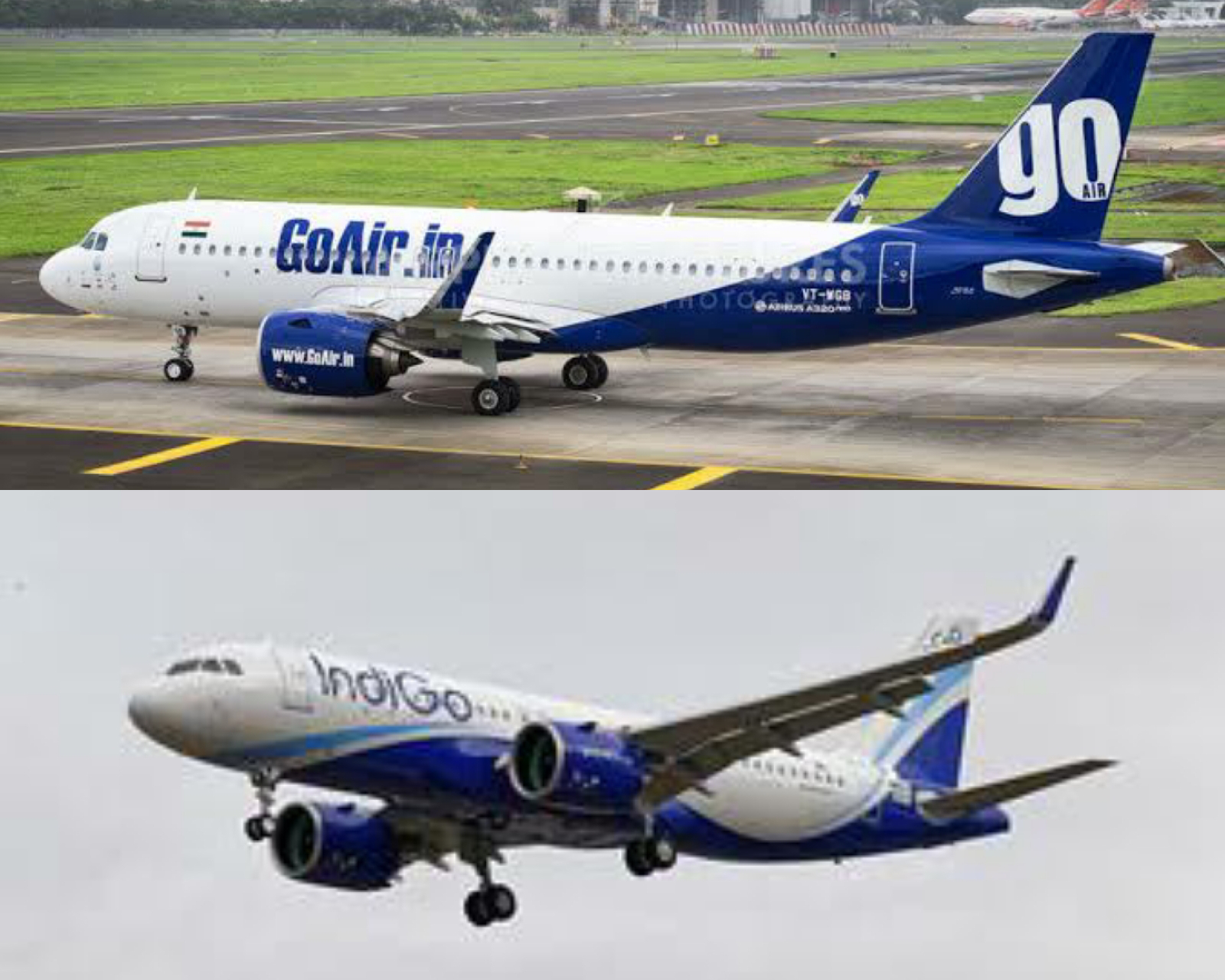 GOAIR & INDIGO FLIGHTS