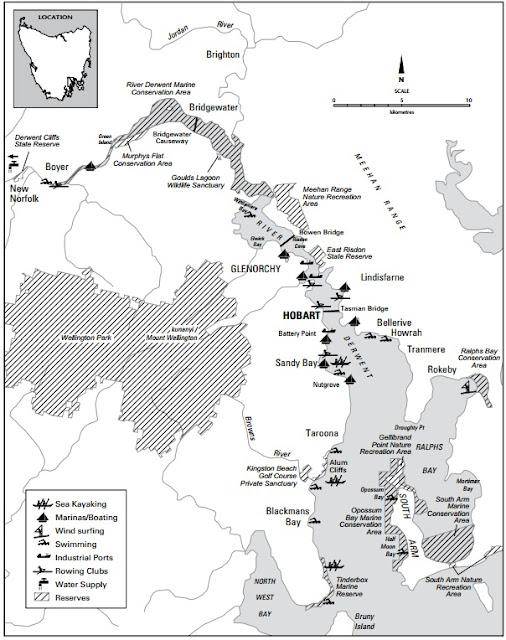 Derwent River map