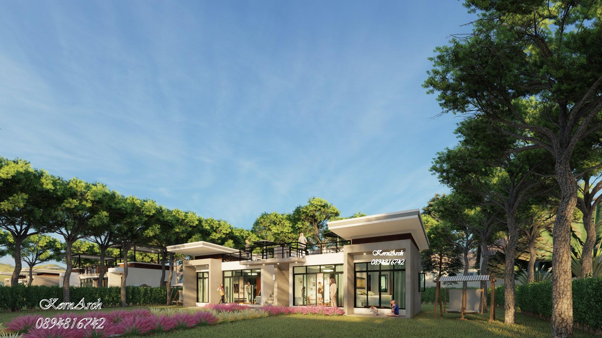รับออกแบบรีสอร์ทสไตล์โมเดิร์นลอฟท์  เจ้าของอาคาร หัวหิน อินเตอร์ฟู้ดส์  สถานที่ก่อสร้าง อ.เกาะพะงัน จ. สุราษฎร์ธานี
