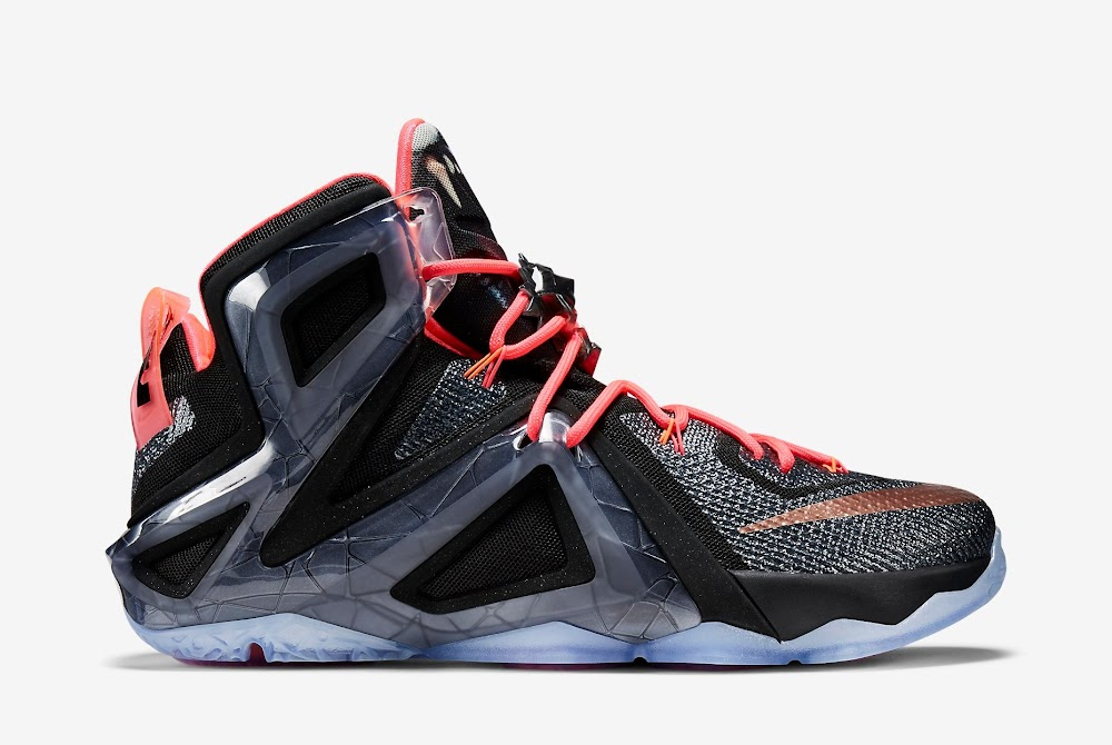 Nike LeBron 12 Elite Rose Gold Sneakers (Black/White/Hot Lava/Metallic Red Bronze)