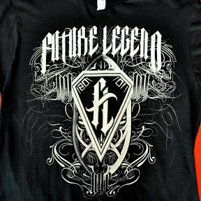 Future Legend - Waterbased white discharge with silver foil