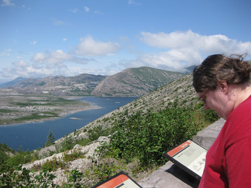 Windy Ridge above Spirit Lake in Mount St. Helens Volcanic Monument