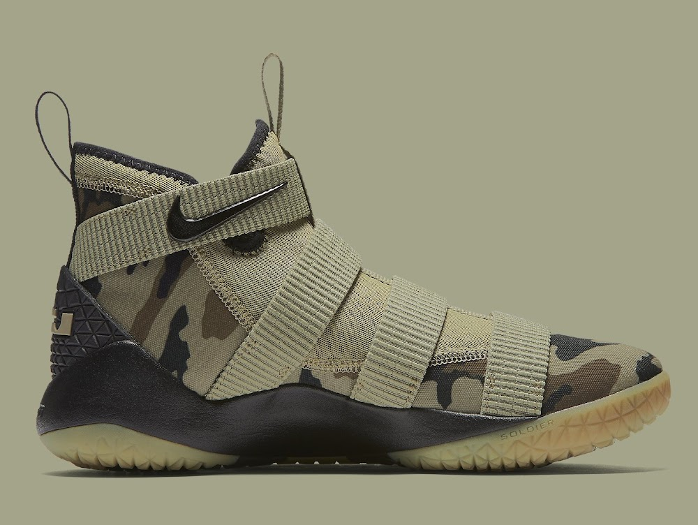 online retailer 30e8c ec308 Nike Adds the Mandatory Camo Look to the LeBron Soldier XI ...