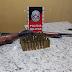No Sertão da PB: suspeito de porte ilegal de arma é preso com espingarda e quase 50 munições