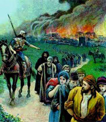 Judeus levados cativos e Jerusalém destruida