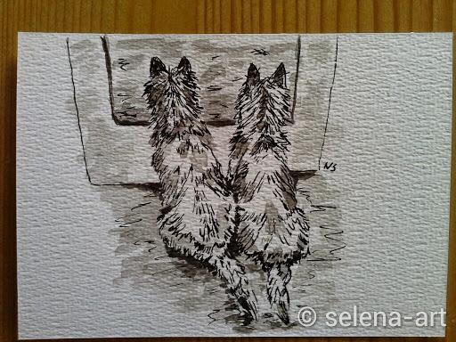 Inkt tekening Mungo en Selena.jpg