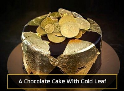 chocolate-cake-with-gold-leaf