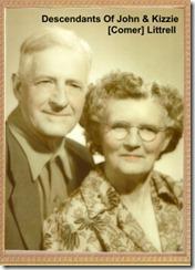 John & Kizzie Zore (Comer) Littrell