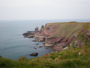 Photo: From Marloes Sands to Broad Haven (bkgrd: Nab Head)