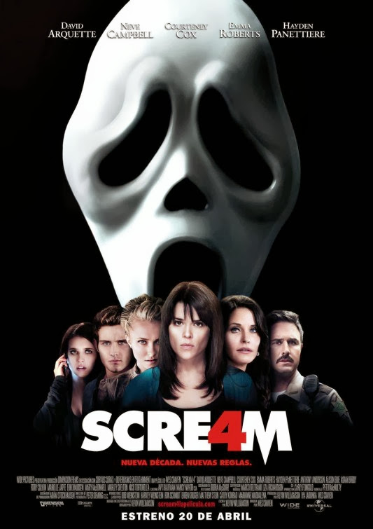 Poster Of Scream 4 (2011) Full Movie Hindi Dubbed Free Download Watch Online At Alldownloads4u.Com