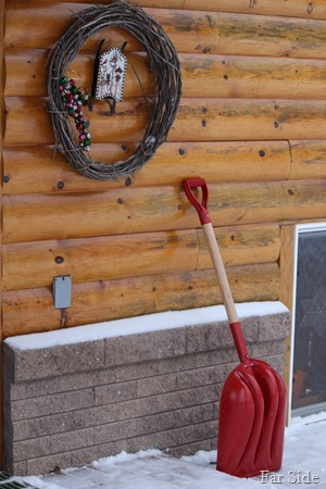 Red shovel