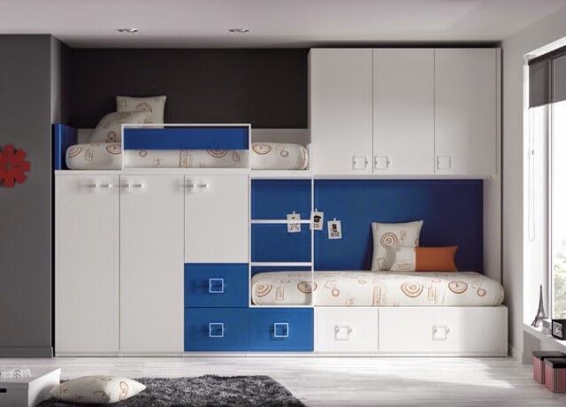 Otra de las opciones para acoplar camas dobles en una - Camas dobles juveniles ikea ...