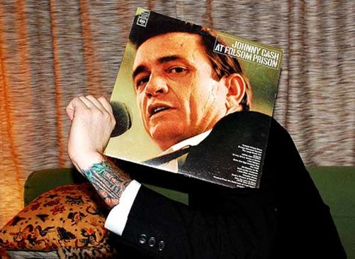 Johnny Cash Folson Prison sleeveface