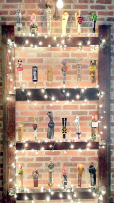 Various collected tap handles
