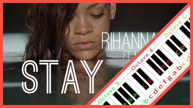 Stay By Rihanna Piano Letter Notes