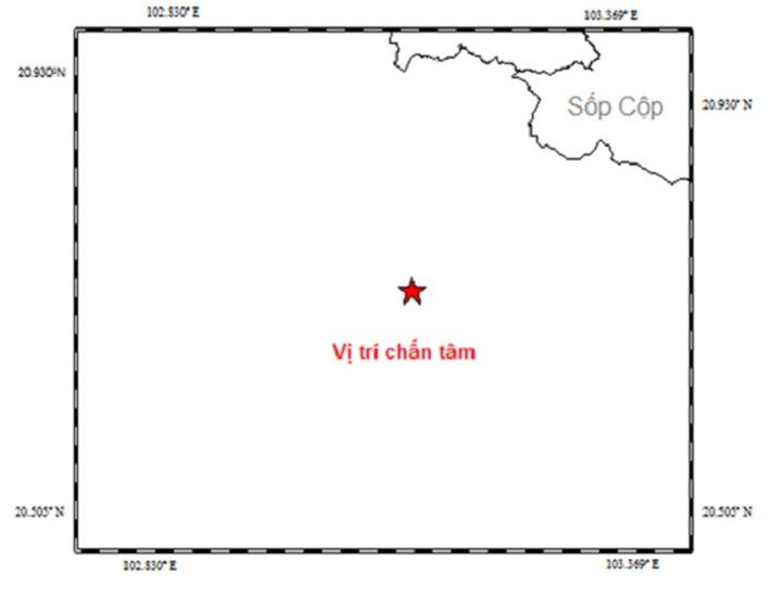 Động đất 3,7 độ Richter tại khu vực gần biên giới Việt - Lào