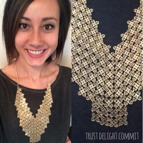 Stitch Fix Review: Annetta Metal Lace Necklace