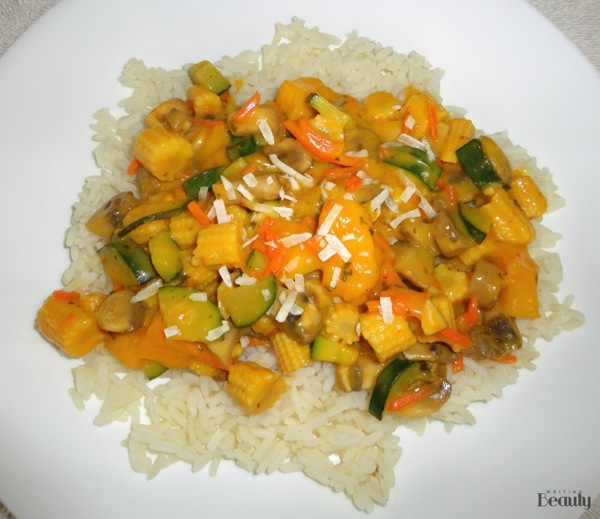 Thai Mango Coconut Vegetables with Rice 5
