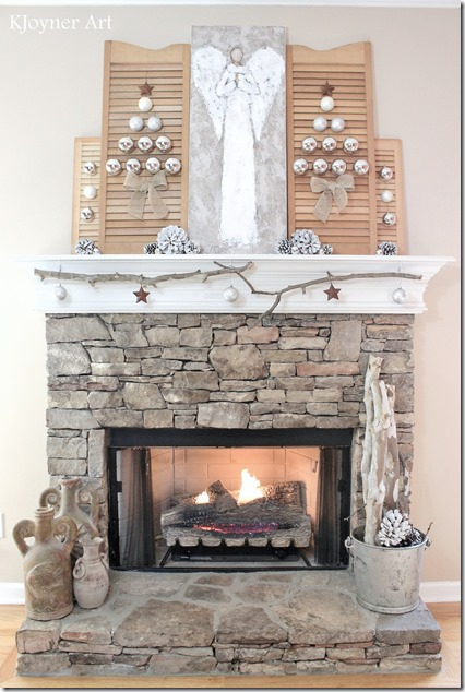 Christmas Mantel Creative Ambitions KJoyner Art