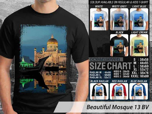 Kaos Muslim Islam Beautiful Mosque 13 distro ocean seven