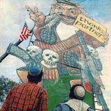1989.11 בובת ערפאת מול הקונסוליה האמריקנית