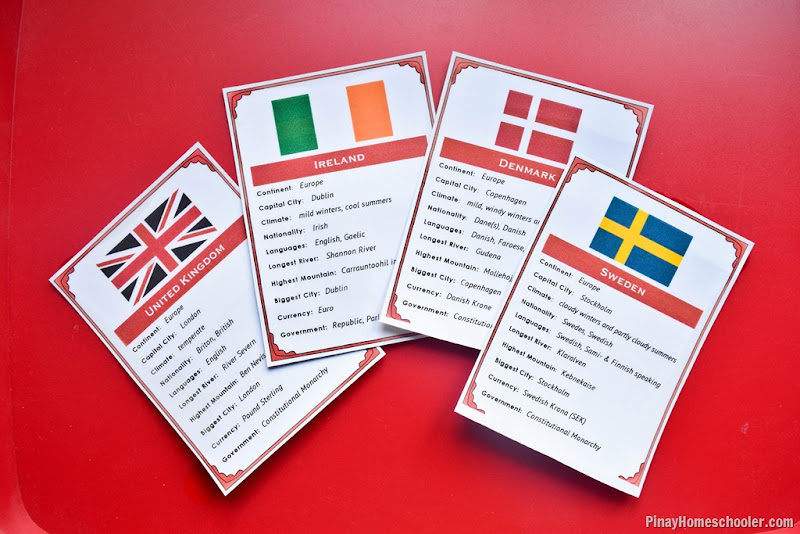 FREE Northern European Countries Fact Cards