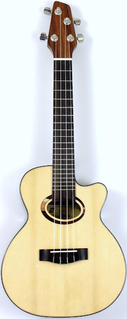 thomann Bohimia strunal Cutaway spruce and walnut concert ukulele not a tenor