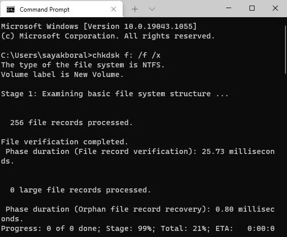 إصلاح Unformattable Usb Windows Terminal Chkdsk