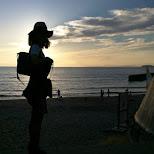 silhoutte at Hayama beach in Hayama, Kanagawa, Japan