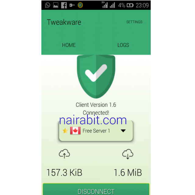 Airtel 0.0kobo Unlimited Free Browsing Tweakware settings 3