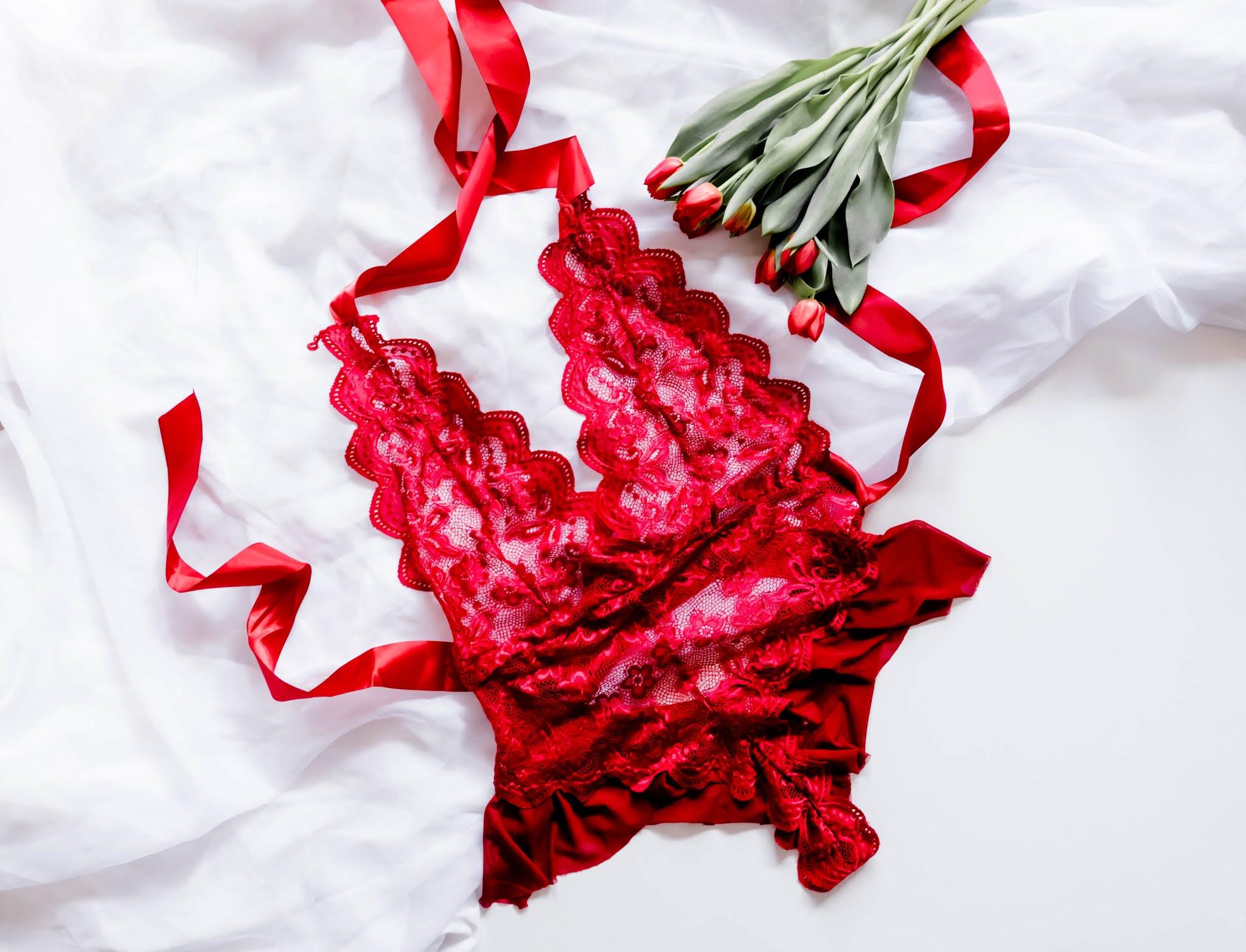 seksowne czerwone body