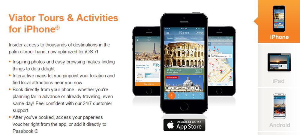 Apps de viagem Viator