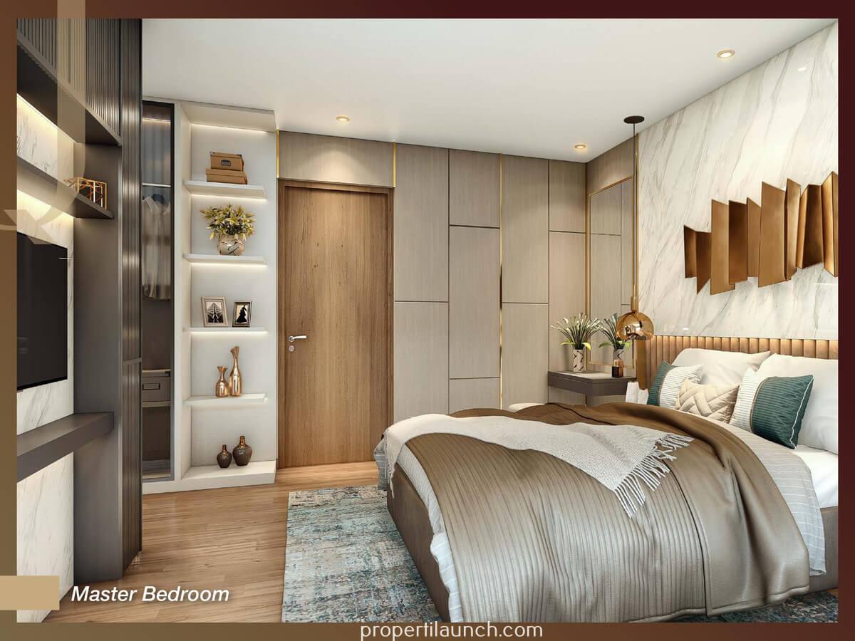Master Bedroom Rumah Quantis Signature BSD Tipe 9 Sudut