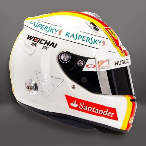 Chissà se Sebastian Vettel riuscirà a resistere più di una gara con lo stesso casco. Nei test invernali questa livrea retrò è piaciuta a molti